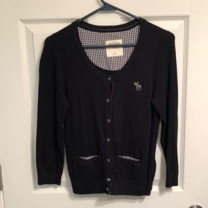 Knit 3/4 sleeve Abercrombie & Fitch cardigan -M
